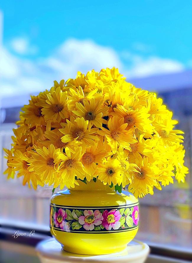 """Bị """"hớp hồn"""" bởi màu trắng tinh khôi của cúc dại, vợ đảm tại Úc thử tài với 1001 cách cắm hoa, tô điểm cho phòng khách trở nên thơ mộng lãng mạn - Ảnh 10."""