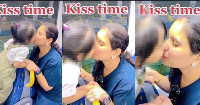 Video mẹ hôn môi con gái dậy sóng tranh cãi trên TikTok: Nên được tôn vinh hay khinh miệt? - Ảnh 1.