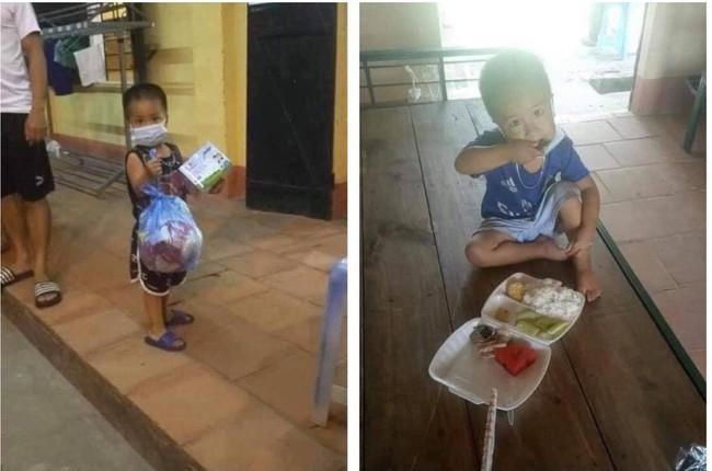 Đi cách ly cùng chú ruột nhưng bé trai 3 tuổi vẫn khiến nhiều người xót xa - Ảnh 1.