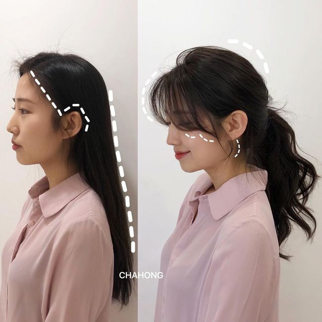 Gái Hàn có một chiêu vuốt tóc mái để buộc tóc kiểu nào cũng sang, mặt nhỏ gọn thanh tú hơn hẳn - Ảnh 3.