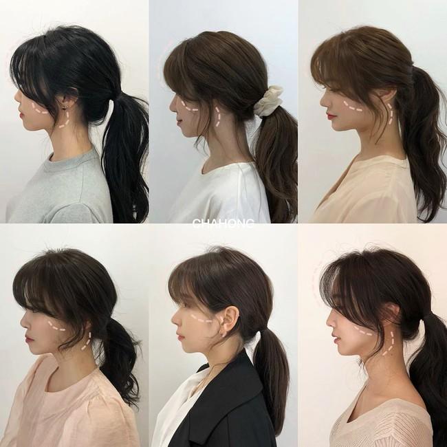 Gái Hàn có một chiêu vuốt tóc mái để buộc tóc kiểu nào cũng sang, mặt nhỏ gọn thanh tú hơn hẳn - Ảnh 2.