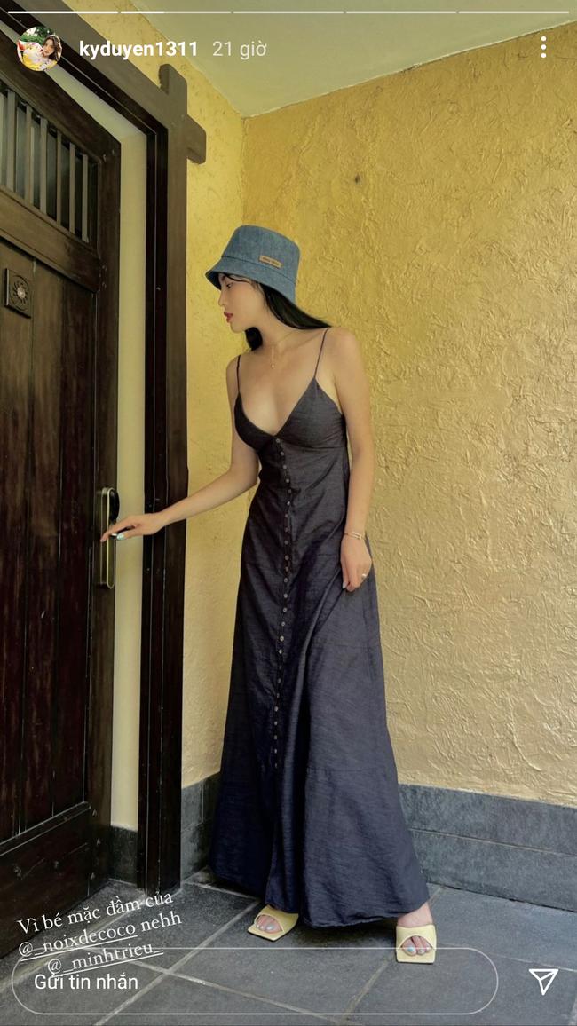 HH Kỳ Duyên mới đổi kiểu váy hai dây: Diện lên hình sống ảo xinh ngây ngất, nàng hậu còn tiết lộ luôn chỗ mua - Ảnh 3.
