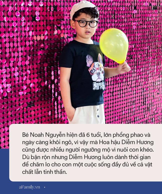 """Hoa hậu Diễm Hương được khen hết lời vì nuôi con cao lớn, điển trai, nhưng cô đã từng bị chồng nghĩ """"có vấn đề về thần kinh"""" vì chăm con kiểu lạ - Ảnh 8."""