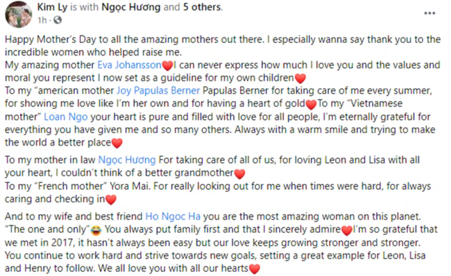"""Sao Việt trong Ngày của mẹ: Kim Lý gửi lời yêu thương cho 4 người mẹ cùng Hồ Ngọc Hà, Nhã Phương nhắn nhủ """"bên mẹ là nơi bình yên nhất"""" - Ảnh 1."""