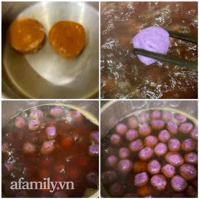"""""""Giải cứu"""" khoai lang tím với cách nấu chè khoai tím dẻo bùi hấp dẫn - ngon không thua đầu bếp chuyên nghiệp - Ảnh 10."""