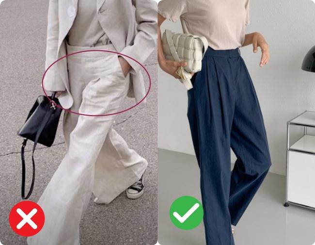 Quần ống rộng hack chân cực đỉnh nhưng vẫn có 4 kiểu quần khiến bạn luộm thuộm kém sang không nên diện đi làm - Ảnh 2.