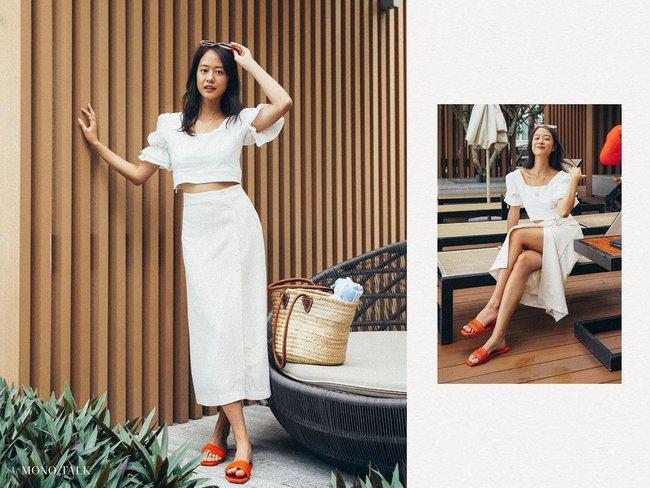 Chân váy có thêm chi tiết này thì nàng 1m55 trông như 1m65, cặp chân được kéo dài tít tắp - Ảnh 10.