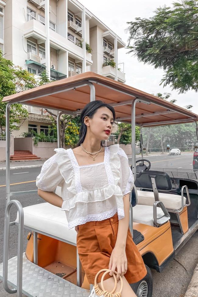 Rosé và Jihyo vừa diện áo blouse cổ vuông rất sang xịn mịn, gợi ý cho bạn vài thiết kế tương tự để sắm theo - Ảnh 13.