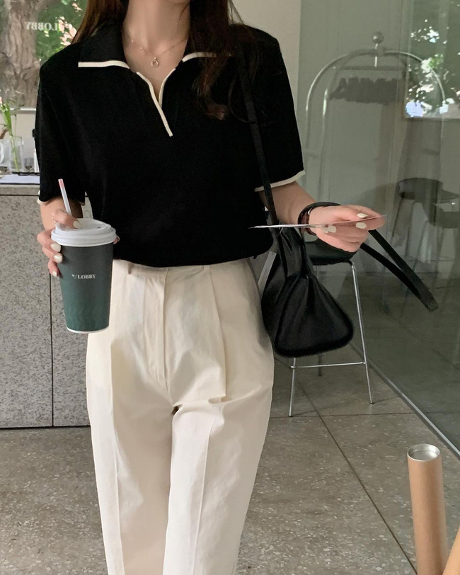 Hè diện quần trắng cho mát nhưng để sành điệu không chê được điểm nào, bạn nên ghim 12 cách mặc của gái Hàn - Ảnh 6.