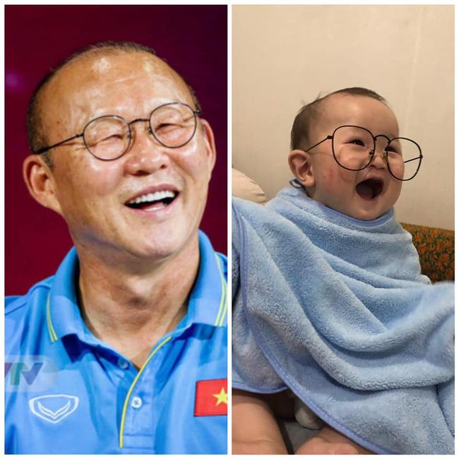 Thêm một phiên bản nhí của thầy Park Hang Seo gây sốt MXH, dân tình thả tim tới tấp: Khi bầu mẹ mê bóng đá quá đây mà? - Ảnh 2.