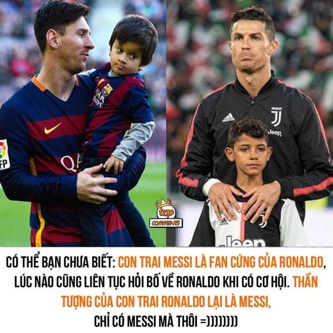 """Con trai Messi là fan cứng của Ronaldo, còn con trai Ronaldo lại thần tượng Messi: Bố nhà người ta bao giờ cũng """"cool ngầu"""" hơn bố mình? - Ảnh 1."""