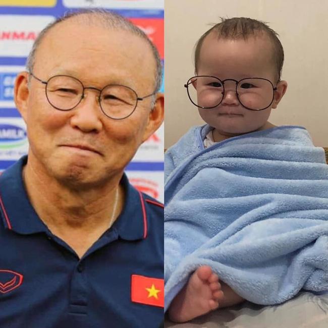 Thêm một phiên bản nhí của thầy Park Hang Seo gây sốt MXH, dân tình thả tim tới tấp: Khi bầu mẹ mê bóng đá quá đây mà? - Ảnh 1.