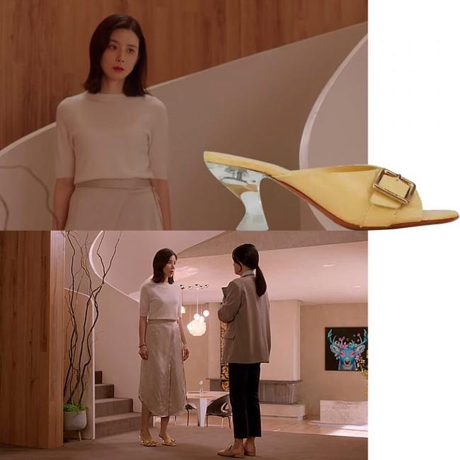 Kiểu giày gót thấp thoáng chân, siêu hack dáng đang hot từ trong phim Hàn ra ngoài đời - Ảnh 3.