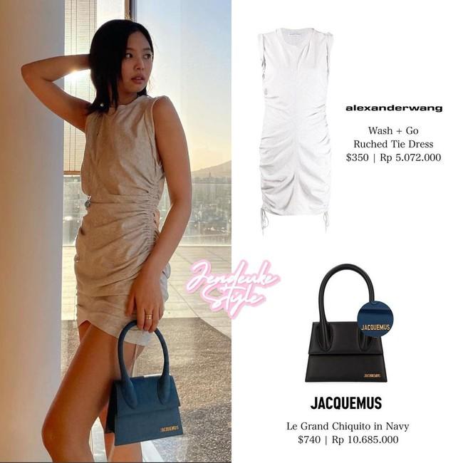 Jennie bùng nổ sự xinh đẹp dù trang điểm kiểu suy nhược, mặc váy hơi giống... giẻ lau - Ảnh 4.