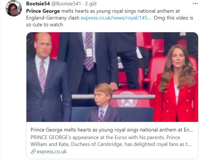 Khoảnh khắc hài hước của Hoàng tử George trên khán đài xem EURO 2020 gây bão MXH, làm tan chảy trái tim bất cứ ai - Ảnh 4.
