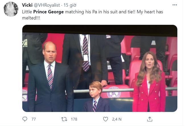 Khoảnh khắc hài hước của Hoàng tử George trên khán đài xem EURO 2020 gây bão MXH, làm tan chảy trái tim bất cứ ai - Ảnh 5.