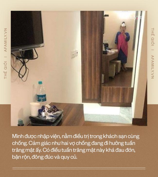 """Nàng dâu Việt ở Ấn Độ kể về hành trình chữa trị Covid-19: 2 vợ chồng cùng nhiễm, vào khách sạn cách ly như đi hưởng tuần trăng mật """"nhiều đau đớn"""" - Ảnh 4."""