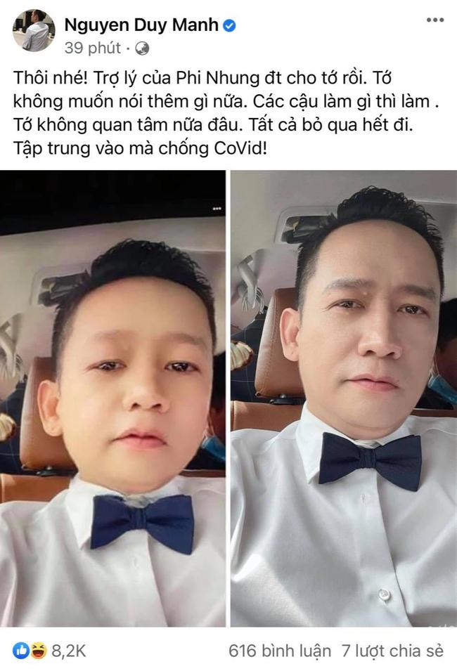 """Duy Mạnh lên tiếng sau khi Phi Nhung xác nhận """"không nhờ bóc phốt ai"""": """"Tôi không quan tâm nữa"""" - Ảnh 1."""