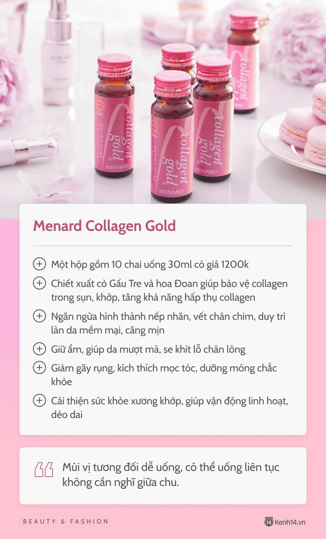 Chăm uống collagen nên da căng bóng mướt mát, cô nàng đưa luôn review chi tiết 5 loại hay sử dụng để chị em cùng tham khảo - Ảnh 4.