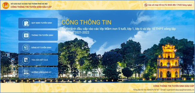 Ngày mai (12/7) bắt đầu tổ chức tuyển sinh trực tuyến lớp 1 và lớp 6, Sở GD-ĐT Hà Nội đưa ra tài liệu hướng dẫn chi tiết  - Ảnh 2.