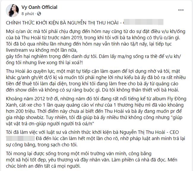 """HOT: Vy Oanh có động thái """"mạnh tay"""" với Hoa hậu Thu Hoài - Ảnh 2."""