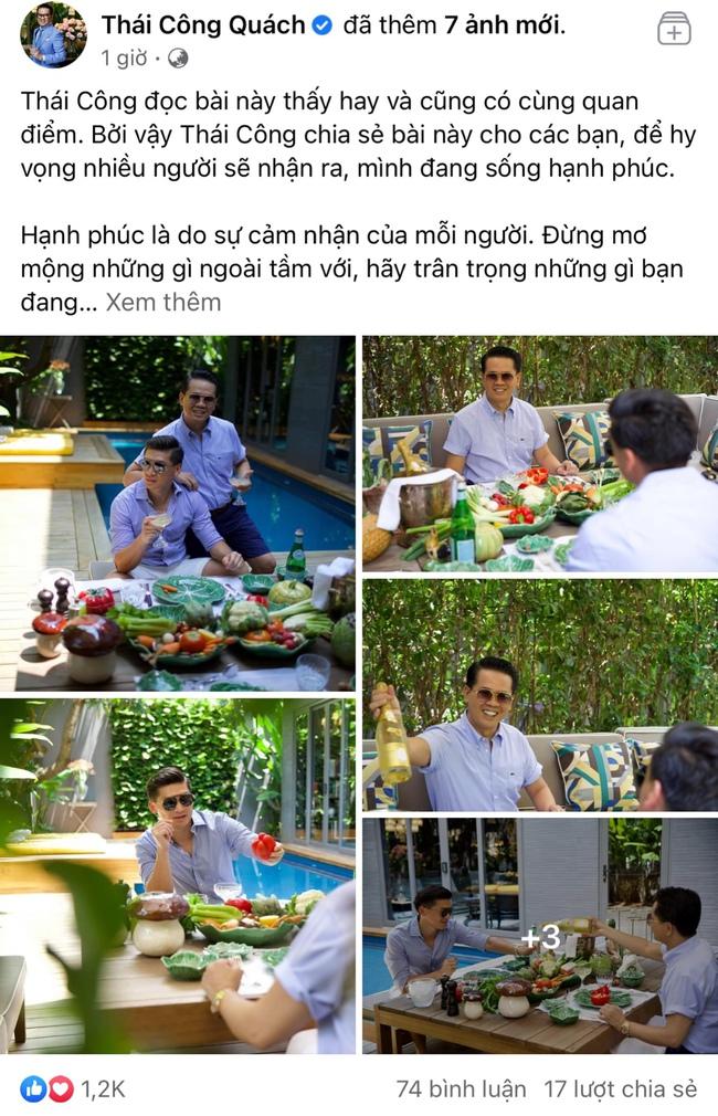 NTK Thái Công chia sẻ quan điểm về hạnh phúc nhưng chiếc bàn ăn lại là chủ đề khiến dân mạng bàn tán - Ảnh 1.