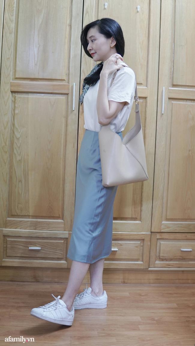 Sắm được chân váy lụa của Uniqlo giá 799k sale còn 299k: Chân váy không hề lộ bụng mà mix kiểu nào thì chuẩn style Pháp  - Ảnh 7.
