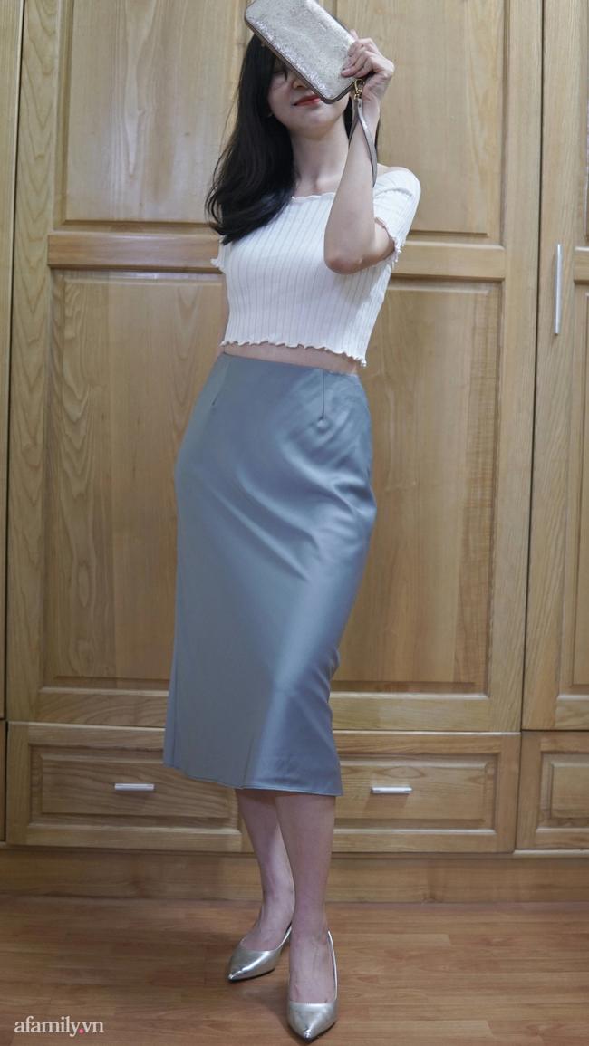 Sắm được chân váy lụa của Uniqlo giá 799k sale còn 299k: Chân váy không hề lộ bụng mà mix kiểu nào thì chuẩn style Pháp  - Ảnh 10.