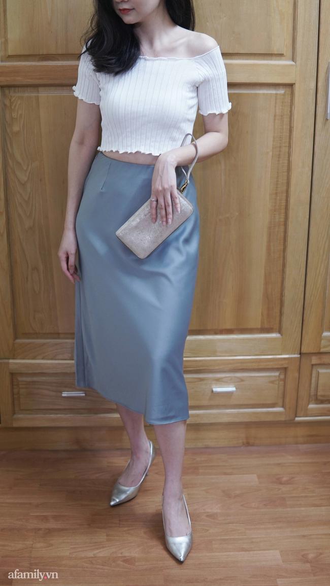 Sắm được chân váy lụa của Uniqlo giá 799k sale còn 299k: Chân váy không hề lộ bụng mà mix kiểu nào thì chuẩn style Pháp  - Ảnh 11.