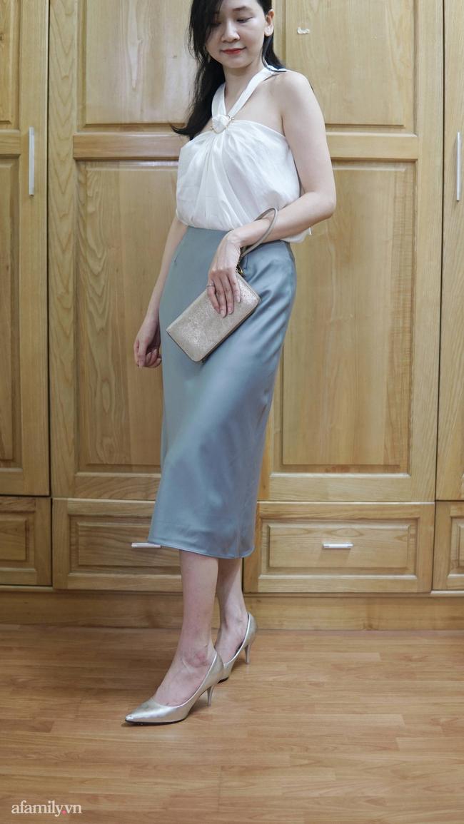 Sắm được chân váy lụa của Uniqlo giá 799k sale còn 299k: Chân váy không hề lộ bụng mà mix kiểu nào thì chuẩn style Pháp  - Ảnh 14.