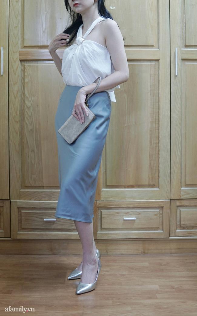 Sắm được chân váy lụa của Uniqlo giá 799k sale còn 299k: Chân váy không hề lộ bụng mà mix kiểu nào thì chuẩn style Pháp  - Ảnh 15.