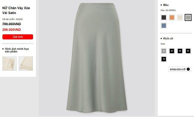 Sắm được chân váy lụa của Uniqlo giá 799k sale còn 299k: Chân váy không hề lộ bụng mà mix kiểu nào thì chuẩn style Pháp  - Ảnh 1.