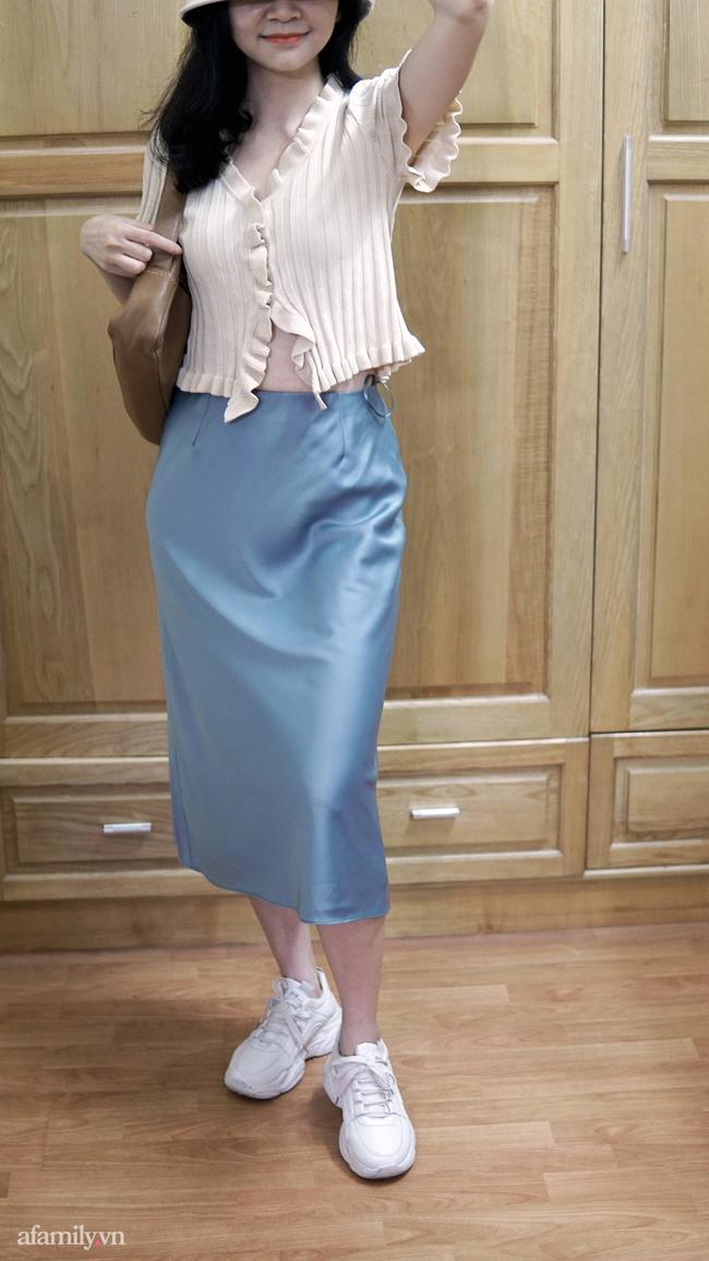 Sắm được chân váy lụa của Uniqlo giá 799k sale còn 299k: Chân váy không hề lộ bụng mà mix kiểu nào thì chuẩn style Pháp  - Ảnh 8.