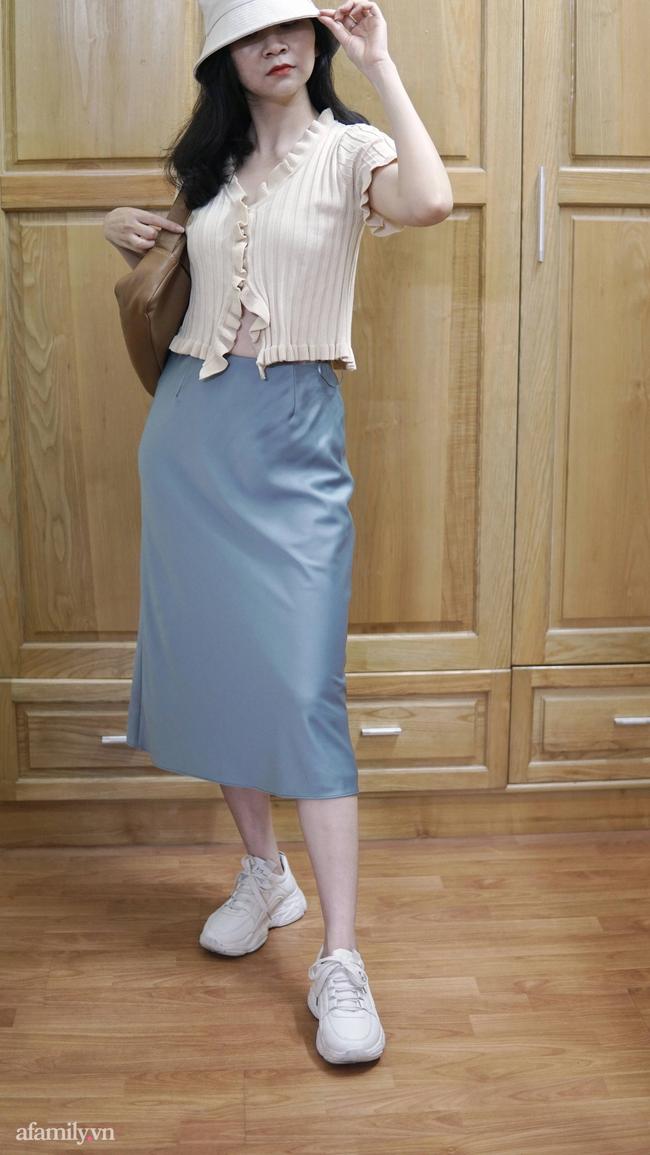 Sắm được chân váy lụa của Uniqlo giá 799k sale còn 299k: Chân váy không hề lộ bụng mà mix kiểu nào thì chuẩn style Pháp  - Ảnh 9.