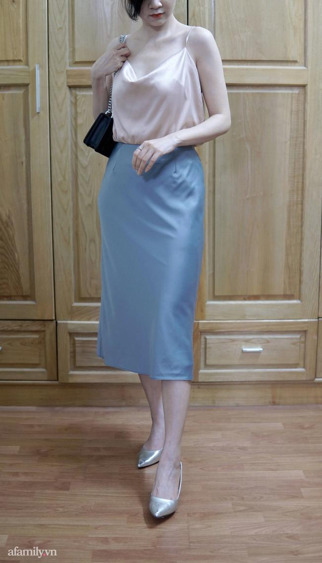 Sắm được chân váy lụa của Uniqlo giá 799k sale còn 299k: Chân váy không hề lộ bụng mà mix kiểu nào thì chuẩn style Pháp  - Ảnh 13.
