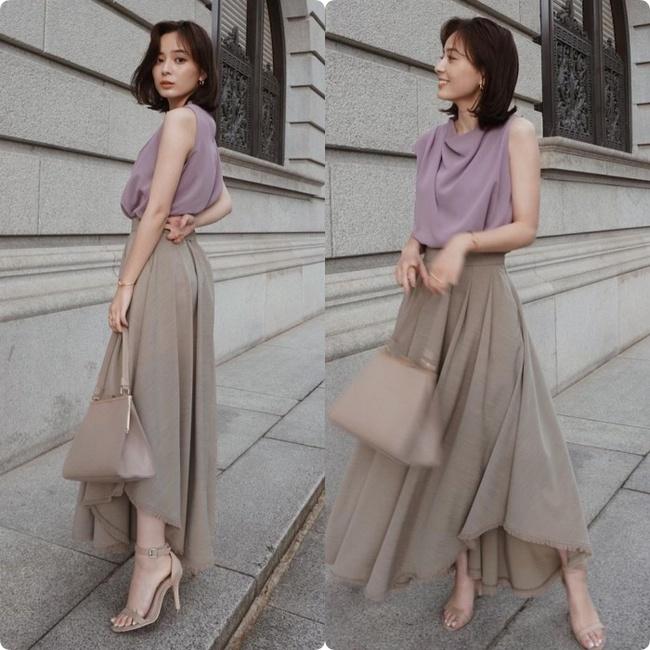 Blogger người Nhật 42 tuổi cao 1m52: Chỉ mê diện chân váy dài mà nhìn cao như mét 7 - Ảnh 9.