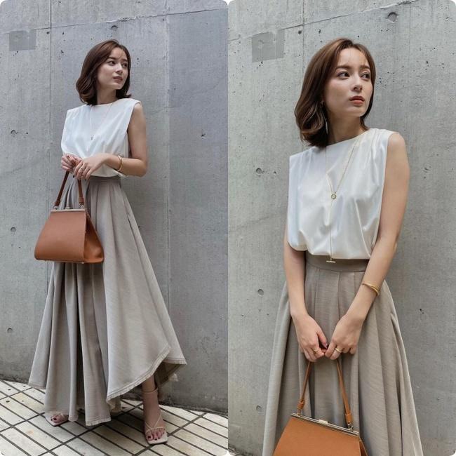 Blogger người Nhật 42 tuổi cao 1m52: Chỉ mê diện chân váy dài mà nhìn cao như mét 7 - Ảnh 7.