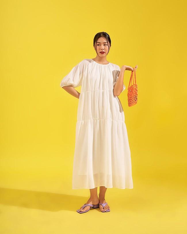 """Hari Won diện loạt mẫu váy giấu bụng triệt để, mỗi tội trông hơi """"dừ"""" và lỗi mốt - Ảnh 13."""