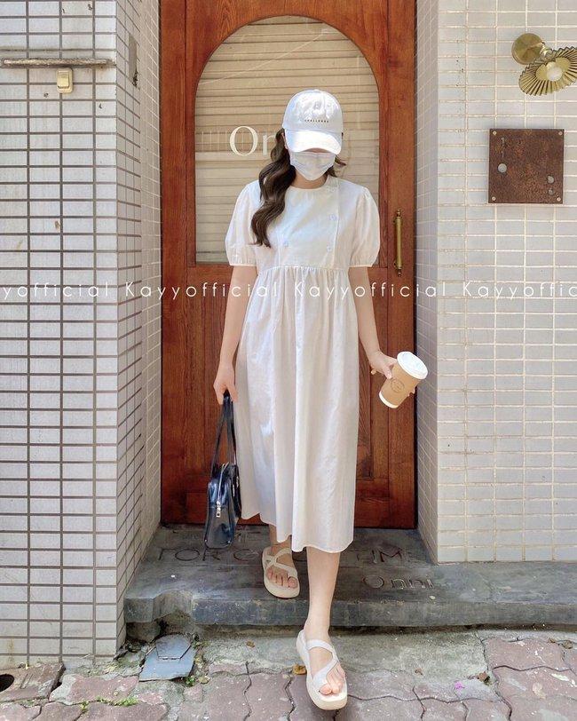 """Hari Won diện loạt mẫu váy giấu bụng triệt để, mỗi tội trông hơi """"dừ"""" và lỗi mốt - Ảnh 5."""