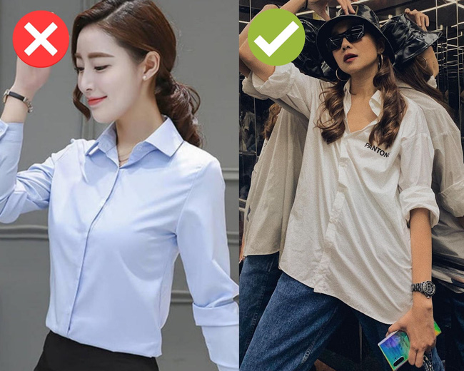 """Cách chọn áo sơ mi của Thanh Hằng ở tuổi U40: Chỉ mê một kiểu trẻ trung, """"tẩy chay"""" một kiểu lỗi mốt - Ảnh 5."""