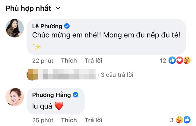 """Vân Trang bất ngờ khoe bụng bầu to, Lê Phương vui vẻ chúc mừng """"mong em sớm đủ nếp đủ tẻ"""" - Ảnh 2."""