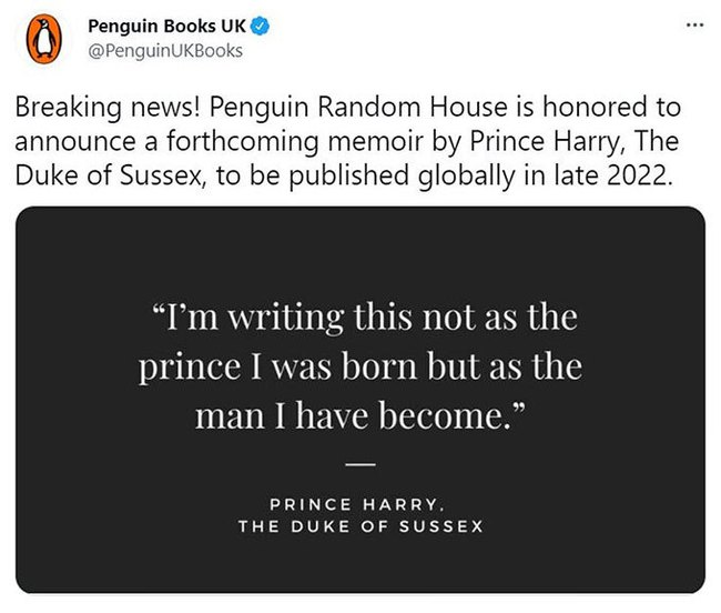 """Phản ứng của hoàng gia khi Harry tuyên bố viết hồi ký và tiết lộ số tiền """"khủng"""" anh nhận được - Ảnh 1."""