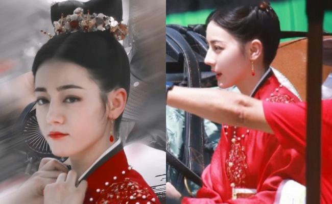 Full ảnh cận mặt cực đẹp của Địch Lệ Nhiệt Ba khi quay phim cùng Cung Tuấn, nhà gái vẫn là hợp nhất với màu đỏ  - Ảnh 1.