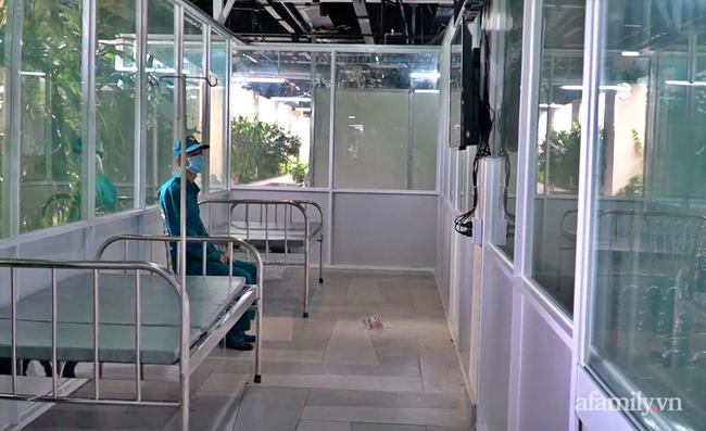 Cận cảnh phòng điều trị của Bệnh viện dã chiến số 5 tại Thuận Kiều Plaza vừa chính thức tiếp nhận F0 - Ảnh 7.