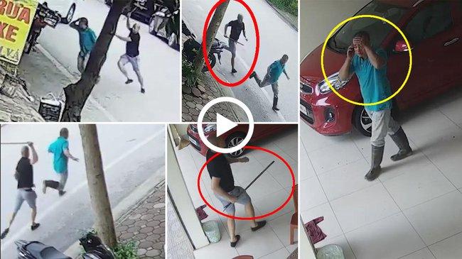 Cận cảnh tài xế Mazda chặn xe máy, cầm gậy sắt vụt vỡ đầu người đàn ông vì túi đồ đánh rơi - Ảnh 2.