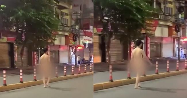 Nam thanh niên khỏa thân tung tăng đi bộ trên đường phố Hải Phòng - Ảnh 1.