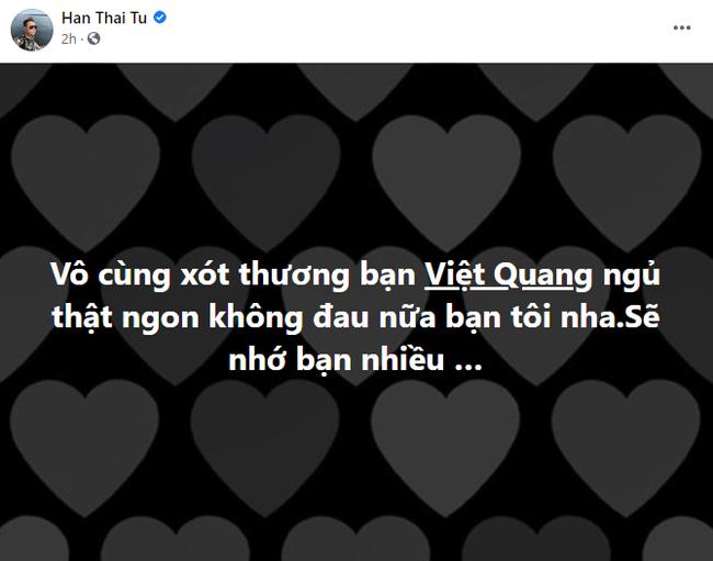 Lệ Quyên, Cao Thái Sơn cùng dàn nghệ sĩ Việt xót xa trước sự ra đi đột ngột của ca sĩ Việt Quang - Ảnh 2.