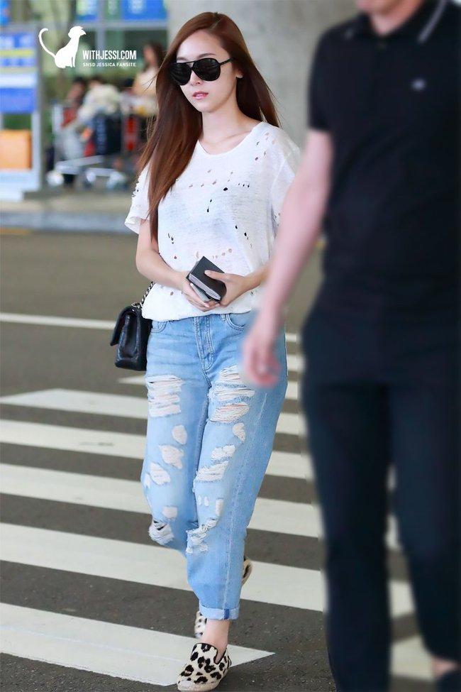 Cao thủ mặc đẹp như Jessica cũng mắc 2 lỗi diện quần jeans cơ bản khiến chân ngắn đi, vẻ ngoài bị lạc mốt - Ảnh 3.