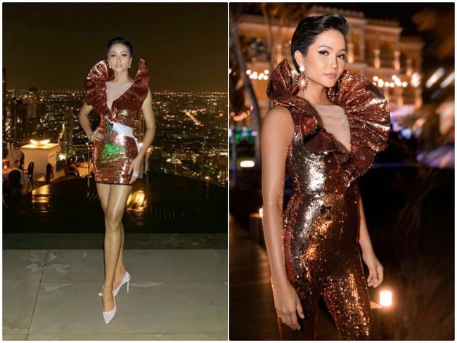 """H'Hen Niê biến chiếc quần 80k của mẹ thành bộ đầm sexy sang chảnh: Đến thiết kế gây tranh cãi tại Miss Universe 2018 cũng được """"thay máu"""" - Ảnh 8."""