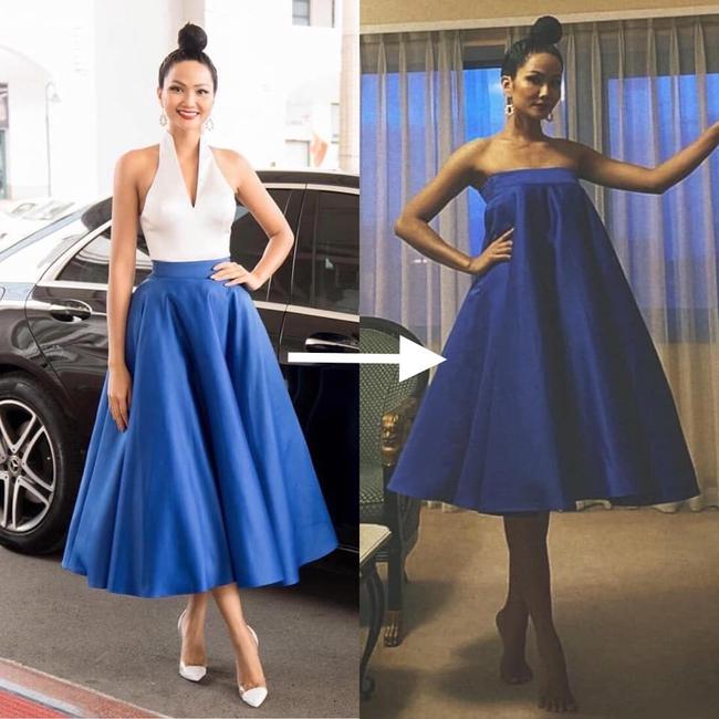 """Hoa hậu H'Hen Niê biến chiếc quần 80k của mẹ thành bộ đầm sexy siêu sang: Từ nay hãy gọi Top 5 Miss Universe là """"siêu sao tái chế"""" - Ảnh 6."""